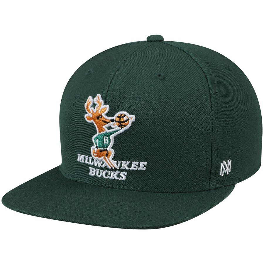 ミルウォーキー・バックス Mitchell & Ness Hardwood Classics Fitted キャップ - Green