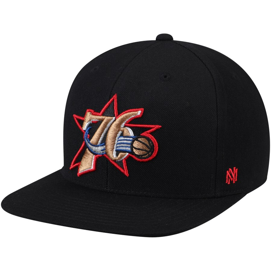 フィラデルフィア・76ers Mitchell & Ness Hardwood Classics Fitted キャップ - Black