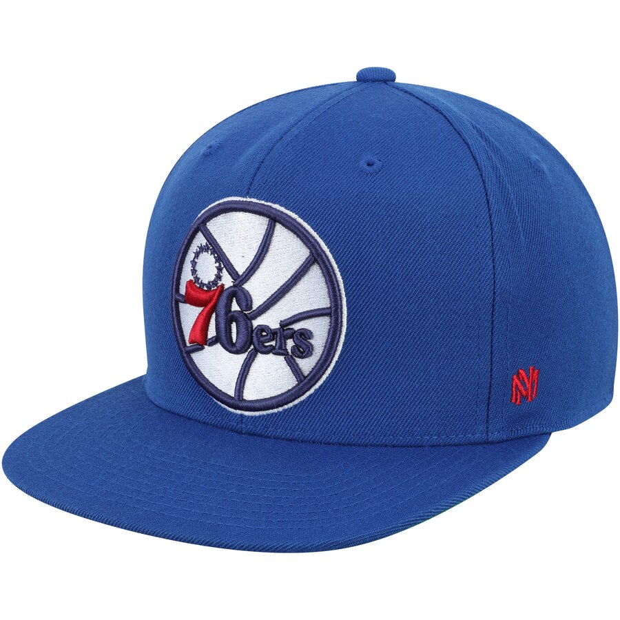 フィラデルフィア・76ers Mitchell & Ness Hardwood Classics Fitted キャップ - Royal