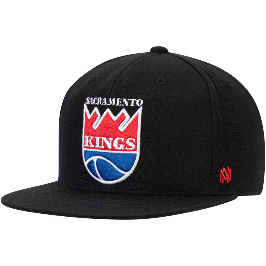 サクラメント・キングス Mitchell & Ness Hardwood Classics Fitted キャップ - Black