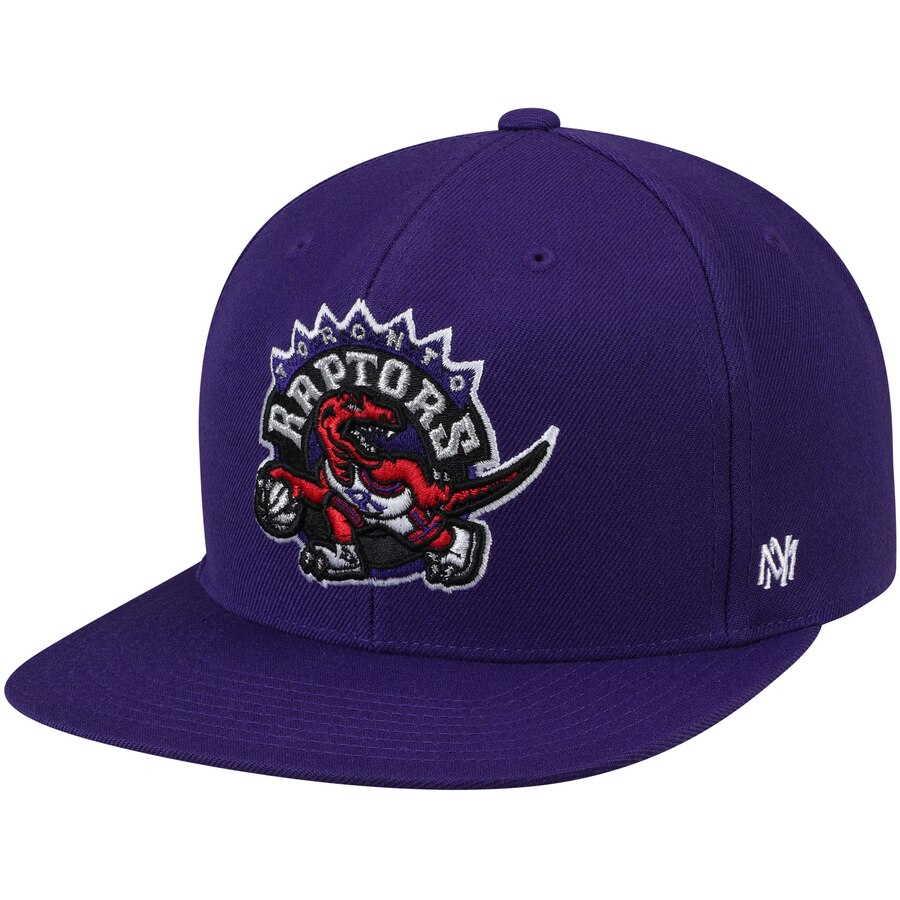 トロント・ラプターズ Mitchell & Ness Hardwood Classics Fitted キャップ - Purple