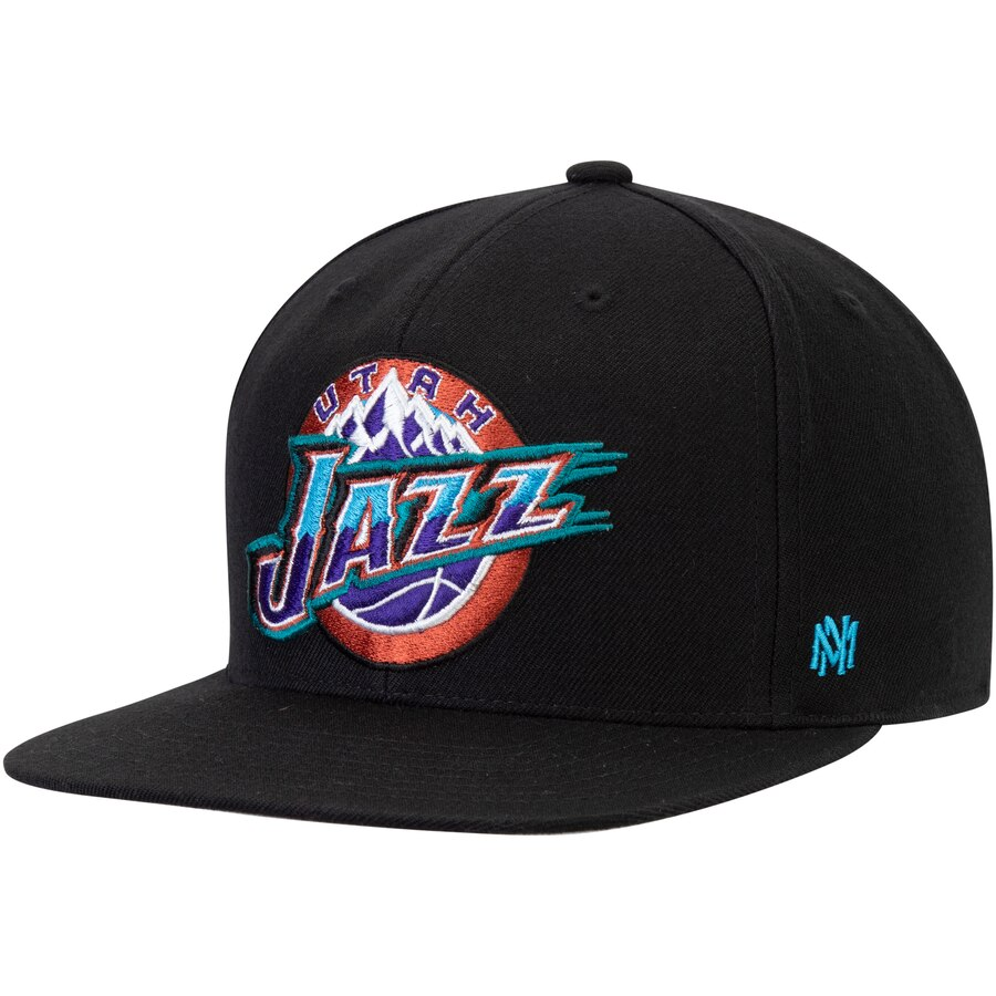 ユタ・ジャズ Mitchell & Ness Hardwood Classics Fitted キャップ - Black
