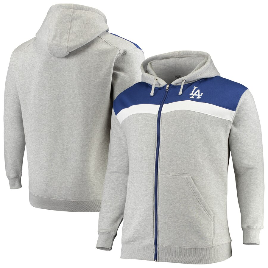 Los Angeles Dodgers Majestic Big & Tall Cooperstown Tripod Hoodie
