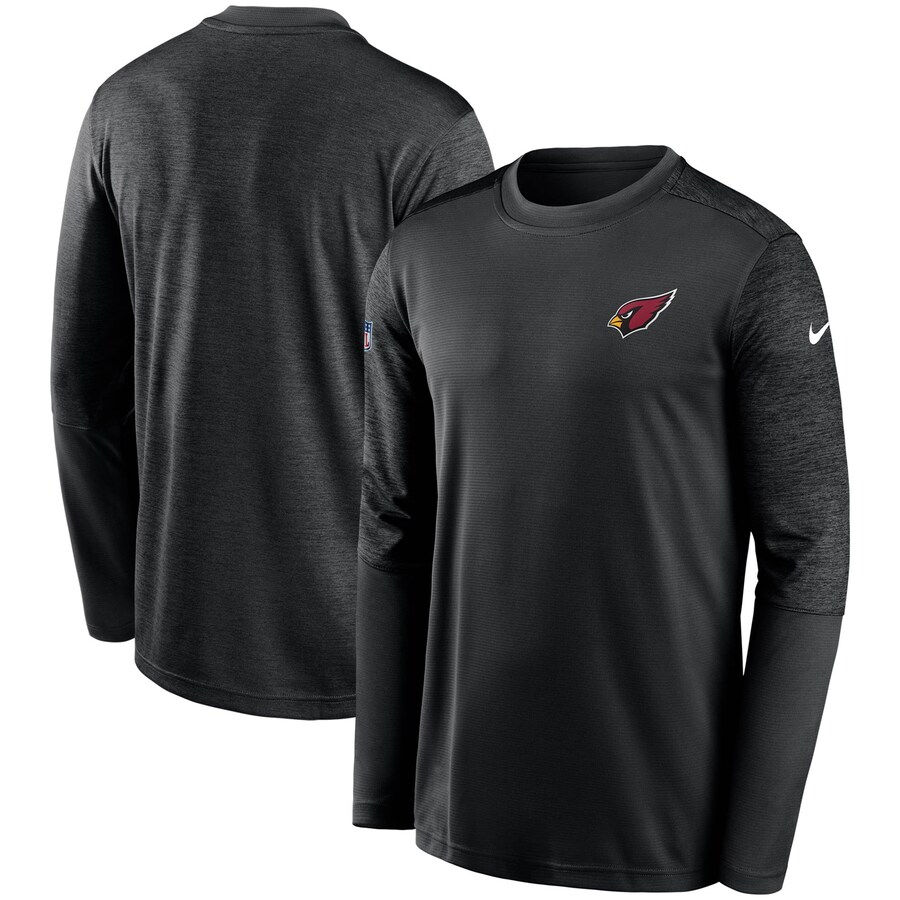 アリゾナ・カーディナルス Nike Coach UV Performance Long Sleeve T-シャツ - Black/Heathered Black