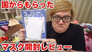 ヒカキン アベノマスク開封レビュー動画を投稿「悪くないねぇ!」