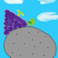 ブドウ味の岩