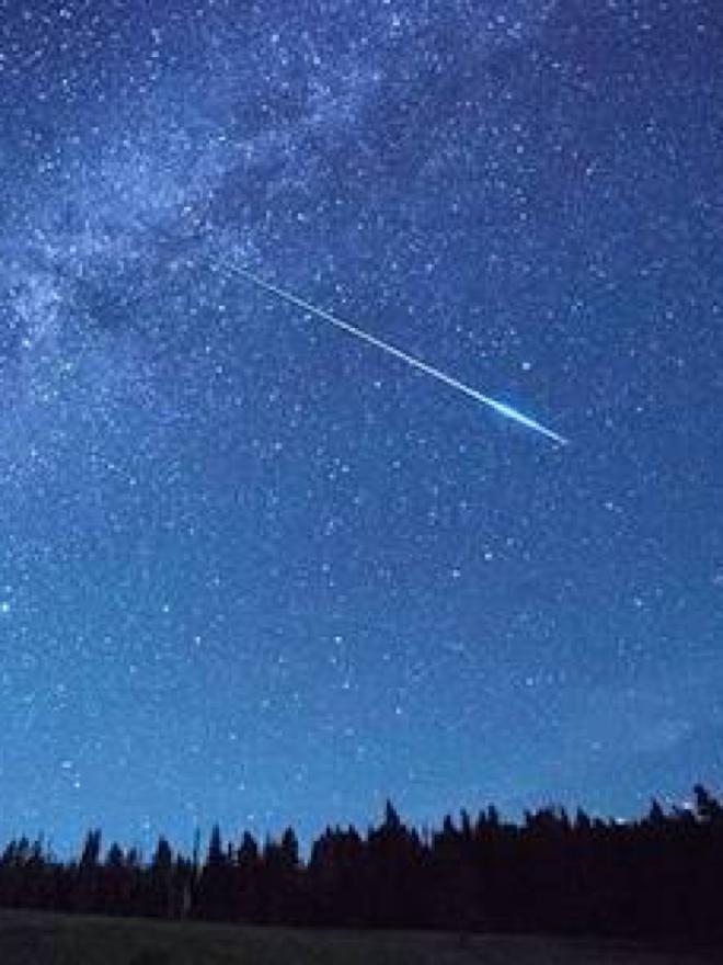 朝、流れ星を見たんだ