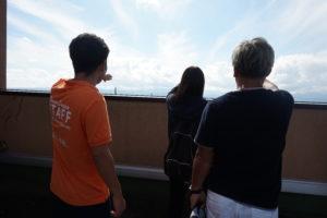 学生スタッフと行くキャンパスツアーもありました!最短約10分で行ける屋上見学もありましたので、「次の見学まで時間が空いちゃった。」という方にもオススメ!ちなみに屋上から見ているのは…