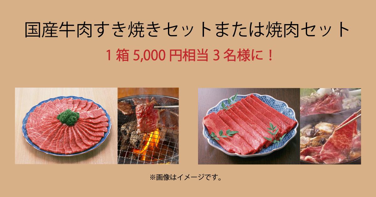 国産牛肉5,000円相当!