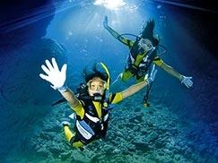 沖縄青の洞窟ビーチ体験ダイビング・レンタル・真栄田 岬・ダイビング 安い