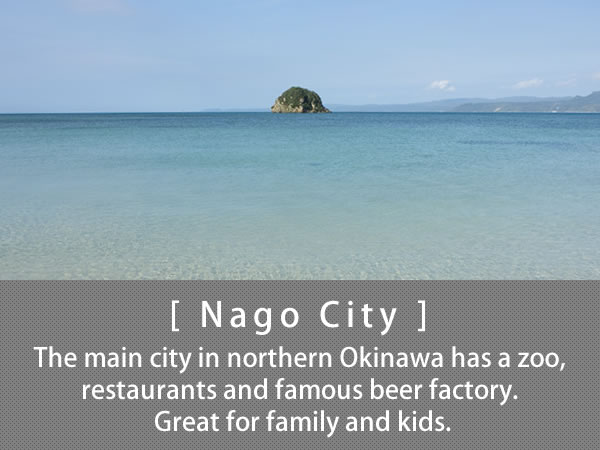 Nago City The main city in northern Okinawa has a zoo, restaurants and famous beer factory. Great for family and kids.