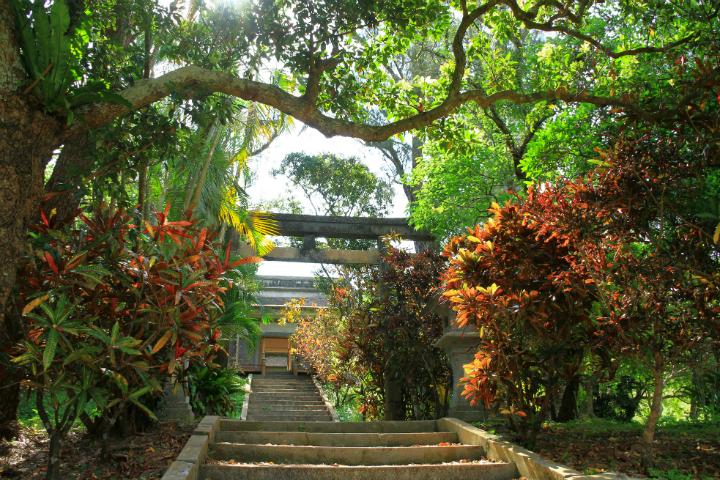 A walk through Okinawan folklore and history The Sashiki Uigusuku castle ruins and the tutelary god Tsukishiro