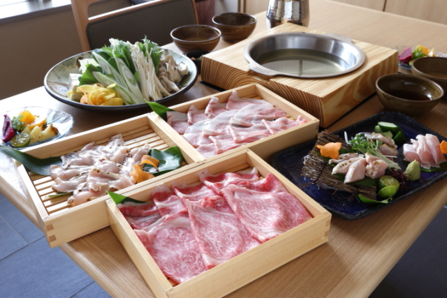 Enjoy a satisfying meal made from the best selection of local beef, pork and chicken at Shabushabu Kou