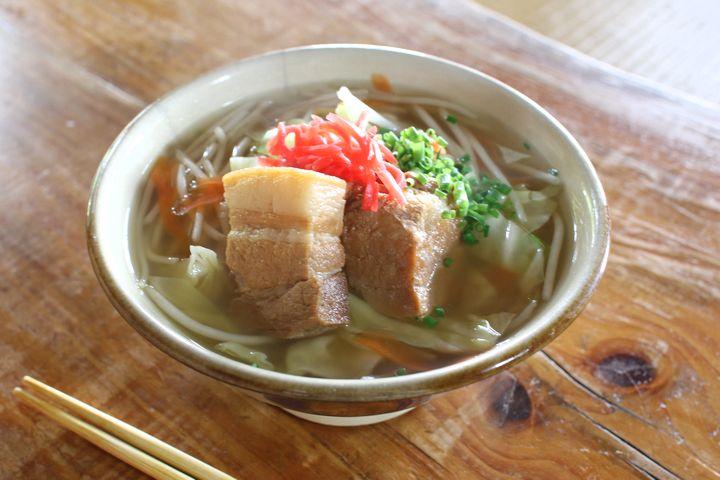 Taste Okinawa soba in an antique house in Shuri, Naha City at Udunyama