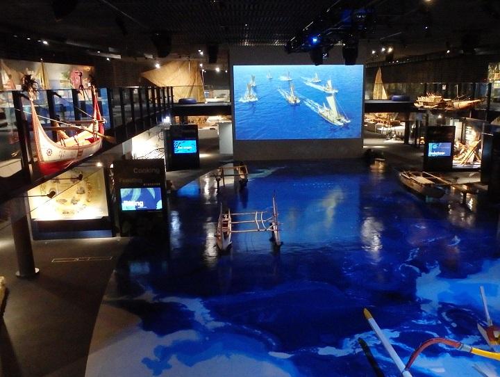 海洋文化館の施設内全体の写真