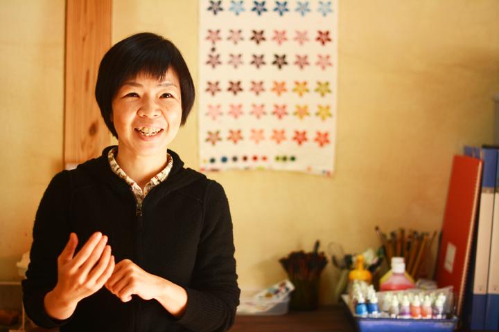 紅型作家の吉田誠子(よしだのぶこ)