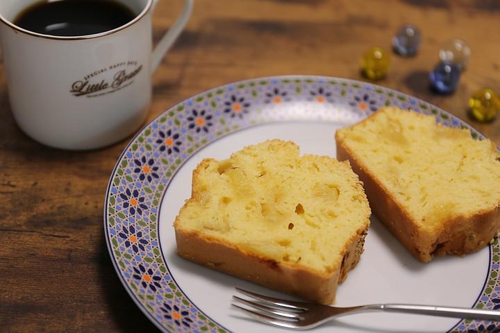 しっとりふわっ♪おうちで簡単に作れるスイーツレシピ「パイナップルパウンドケーキ」