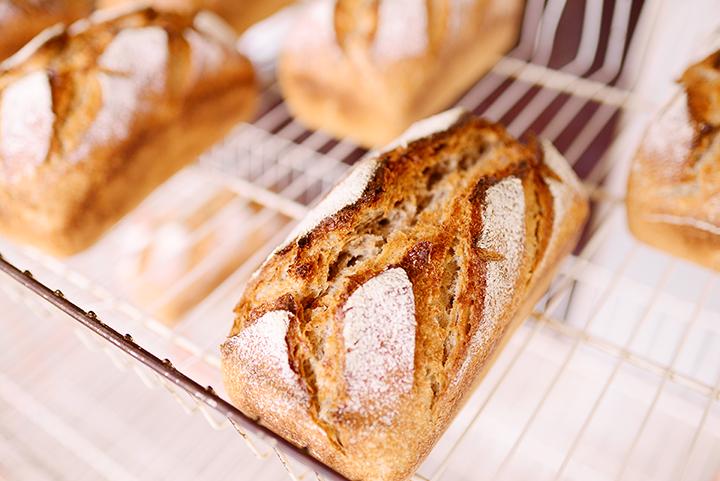 小麦の生命力が感じられるパン