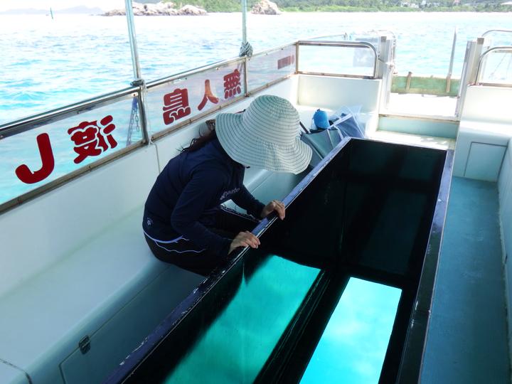 慶良間諸島のグラスボート中の写真