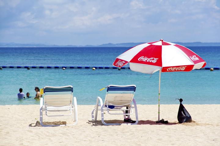 あざまサンサンビーチはCMや雑誌の撮影にもよく使われます