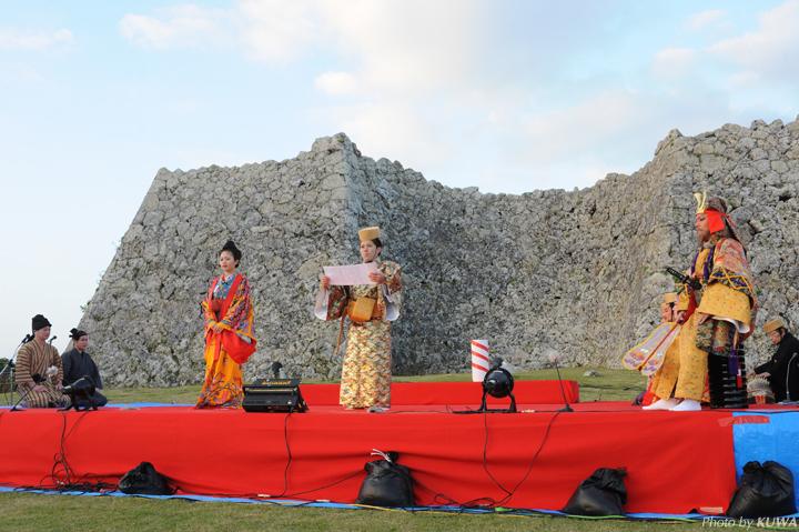中城城(なかぐすくじょう)は、 沖縄に残るグスクの中でも最も保存状態がいいグスク