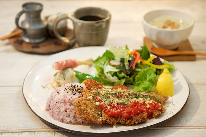 jiji cafeのお料理はボリュームたっぷり