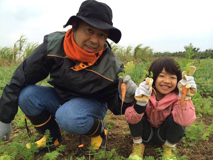 子どもと一緒に農業体験