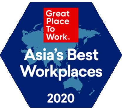 2020年版 アジア地域における「働きがいのある会社」ランキングで25位に選出