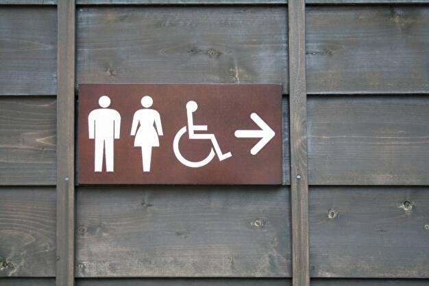 トイレのアイコン(ユニバーサルデザイン例)