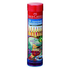 水彩色鉛筆丸缶24色/ファーバーカステル