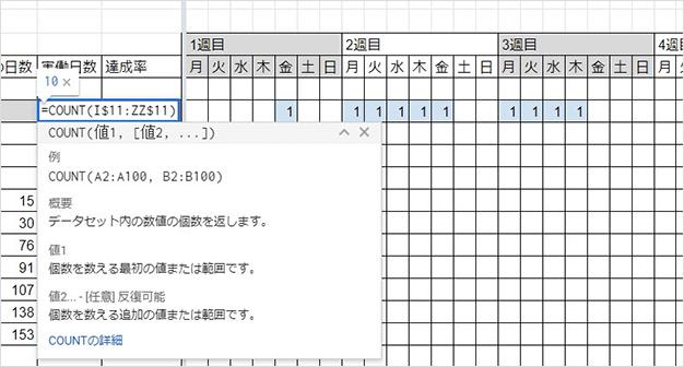 実働日数を導く図