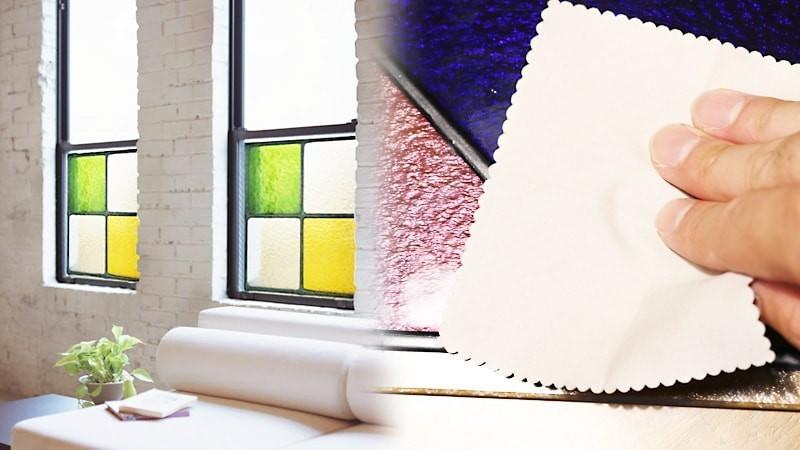 身近なアイテムで簡単キレイに!ステンドグラス風ガラスお手入れ方法のお写真