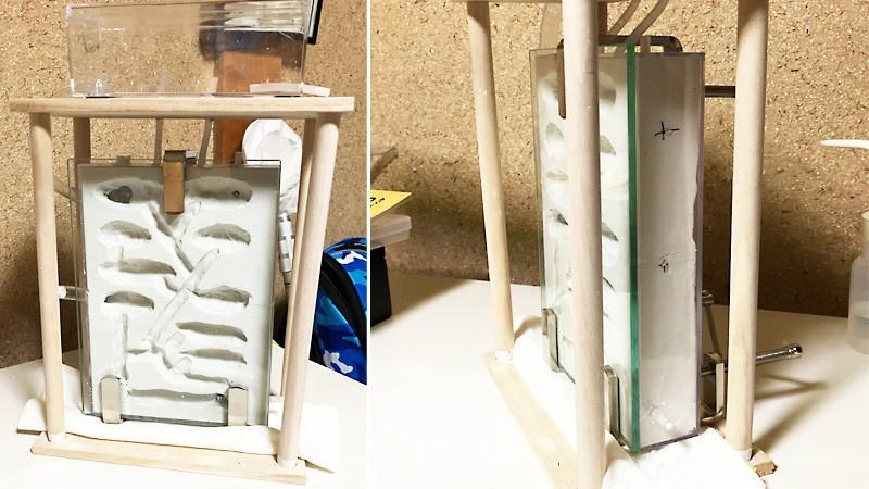 夏休みの自由研究に!アリの巣観察に「透明ガラス」で観察ケースを制作した事例(福井県三方上中郡 F様)のお写真