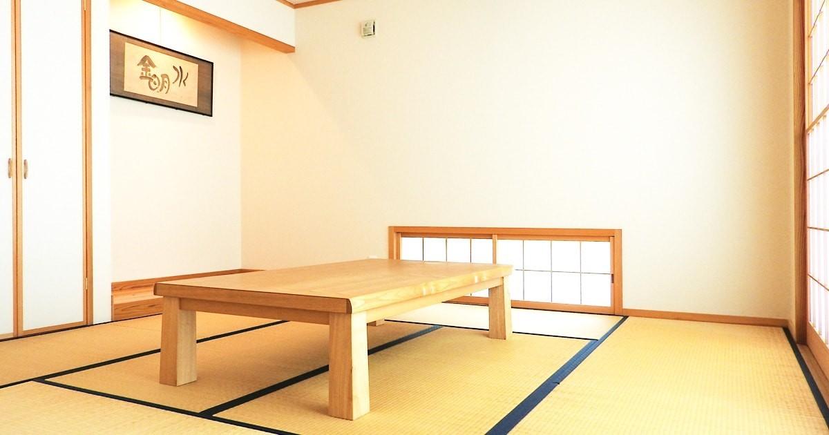 座敷テーブルのテーブルトップに「強化ガラス」を設置した事例3選のお写真