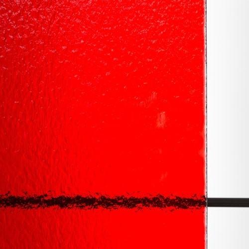 塗装カラー型板ガラス レッド (KCK-009)のお写真