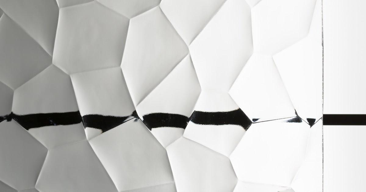 昭和型板ガラス 亀甲 (SKG-009)のお写真