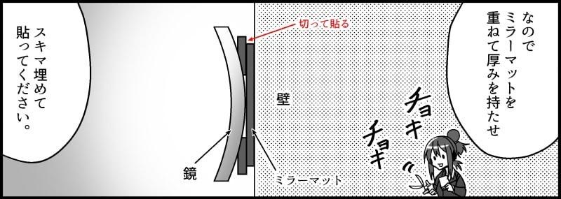 凹面鏡(拡大鏡)の貼り方-6