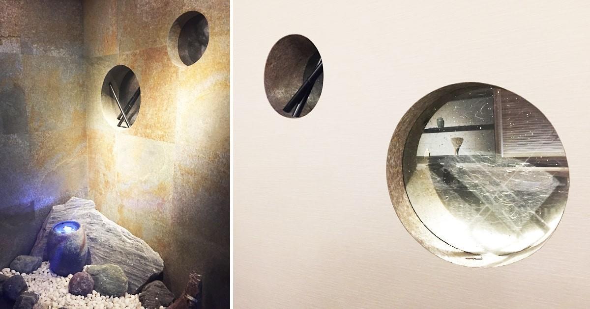 店舗の装飾窓に「和紙調合わせガラス うんりゅう黒」を設置した事例(神奈川県横浜市 G社様)のお写真