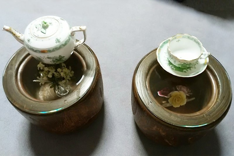 火鉢のコーヒーテーブルに使用した「強化ガラス」(1)