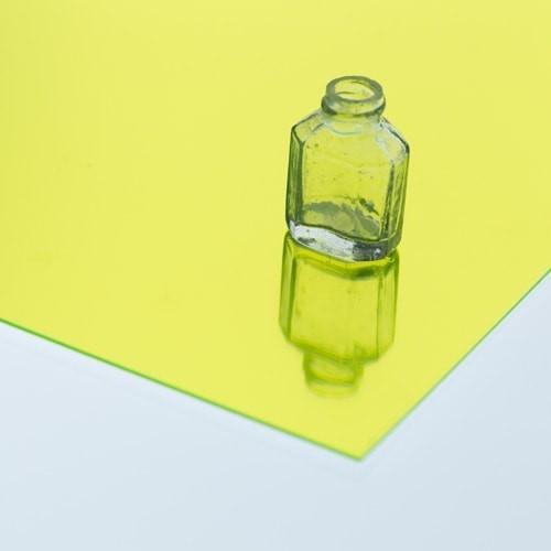 樹脂ミラー 蛍光グリーンのお写真