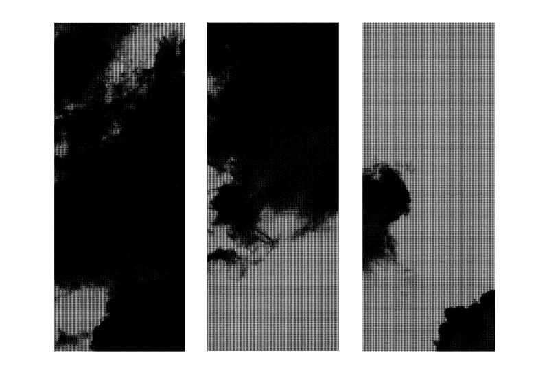 ホテルの壁面装飾に雲を印刷した鏡を設置した事例-6