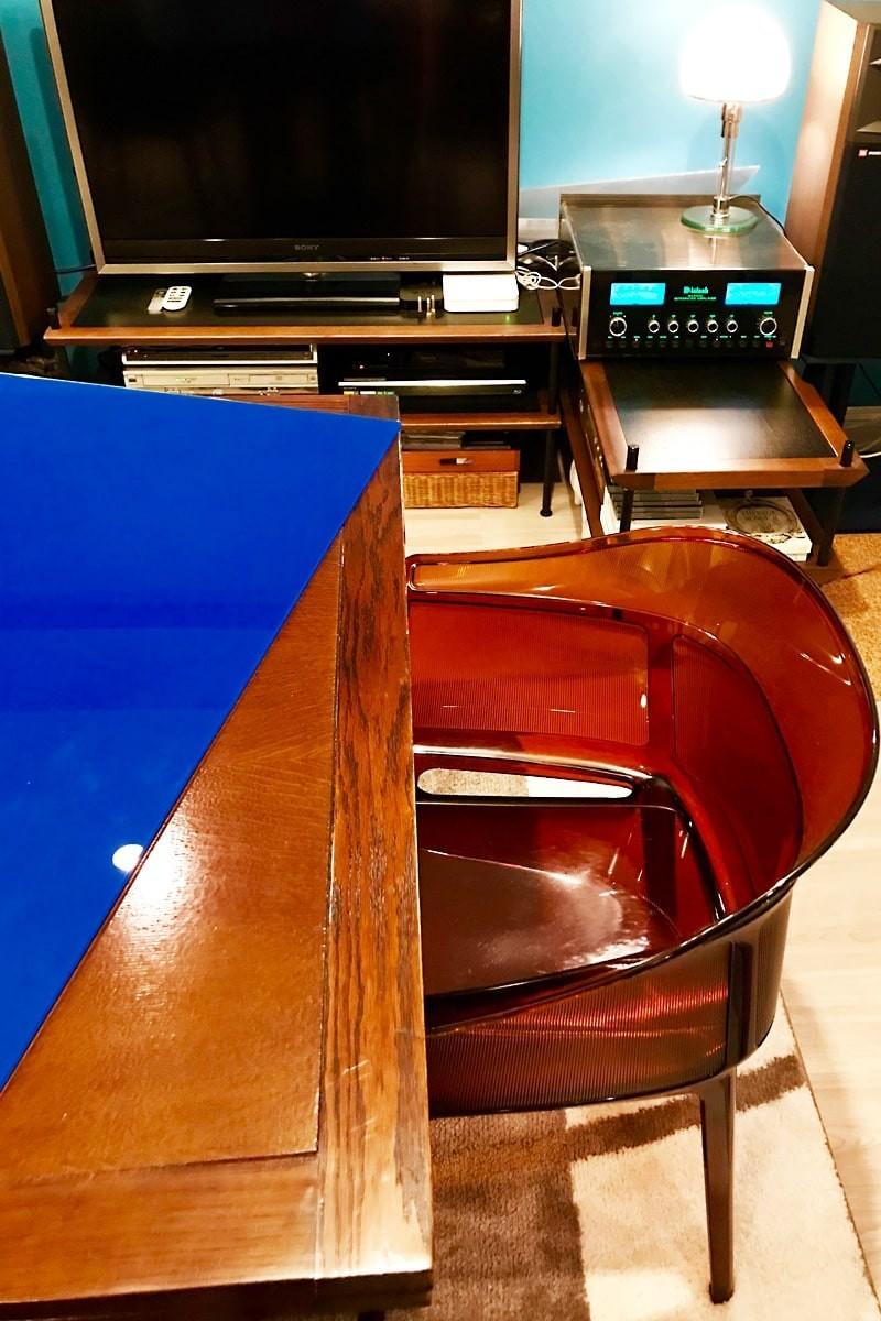 テーブルトップに使用した「セラミックプリントガラス」-2
