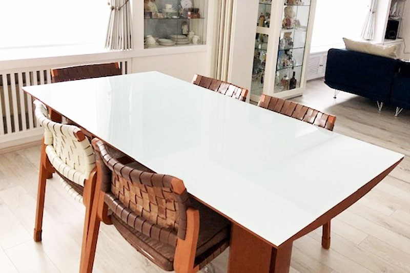 テーブルトップに使用した「セラミックプリントガラス」-7