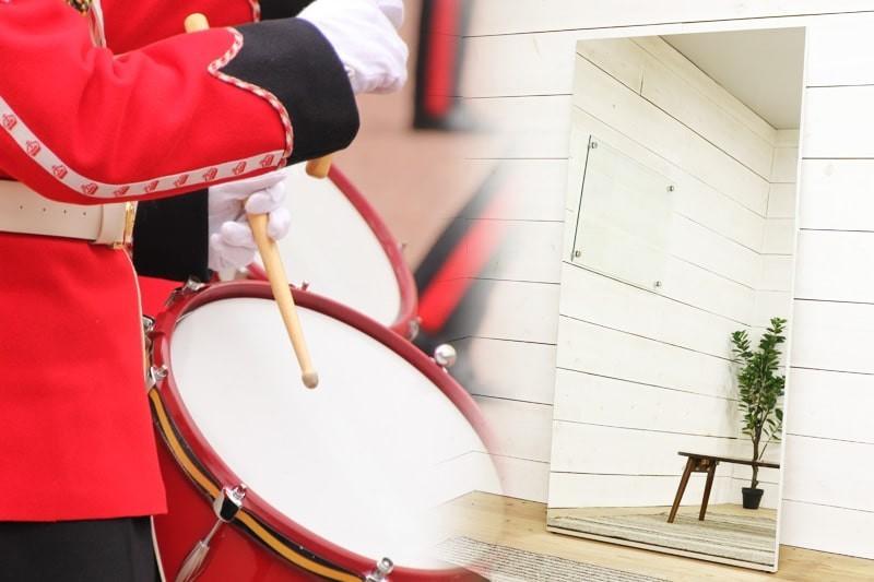 吹奏楽・マーチングにオススメのパネルミラー-1