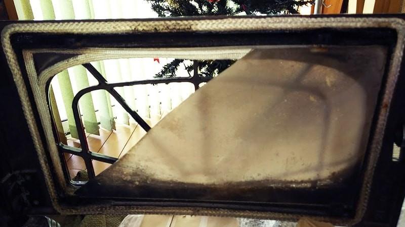 薪ストーブの覗き窓に使用した耐熱ガラス「ネオセラム」(7)