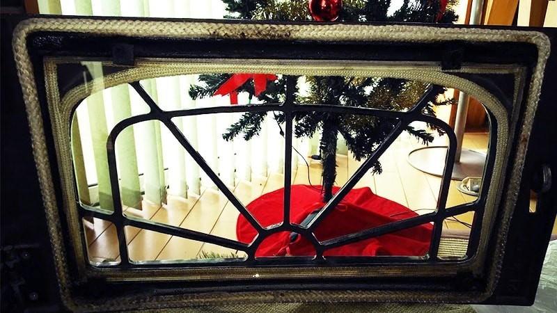 薪ストーブの覗き窓に使用した耐熱ガラス「ネオセラム」(9)