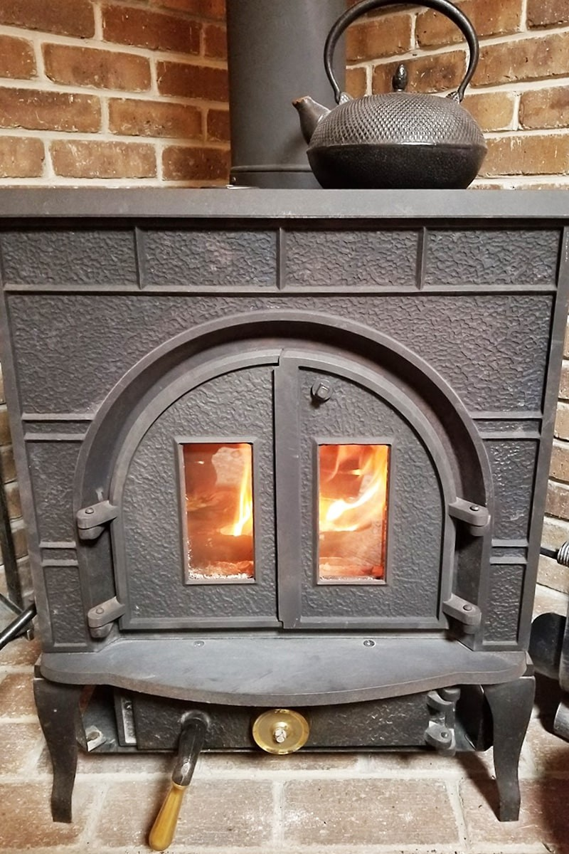 薪ストーブの覗き窓に使用した耐熱ガラス「ネオセラム」(2)
