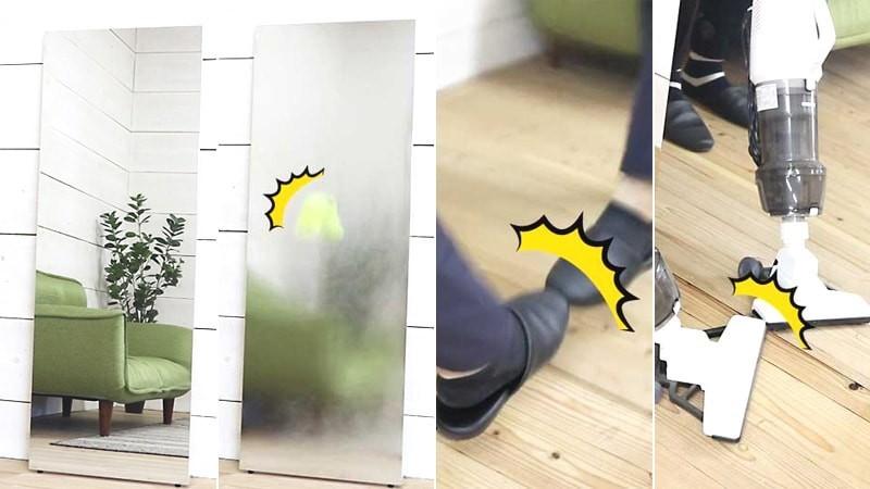 割れない鏡「フィルムミラー」の耐久性を検証してみた!