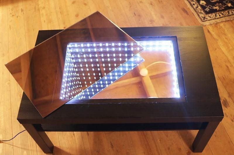 インフィニティミラーでテーブルを製作した事例(7)