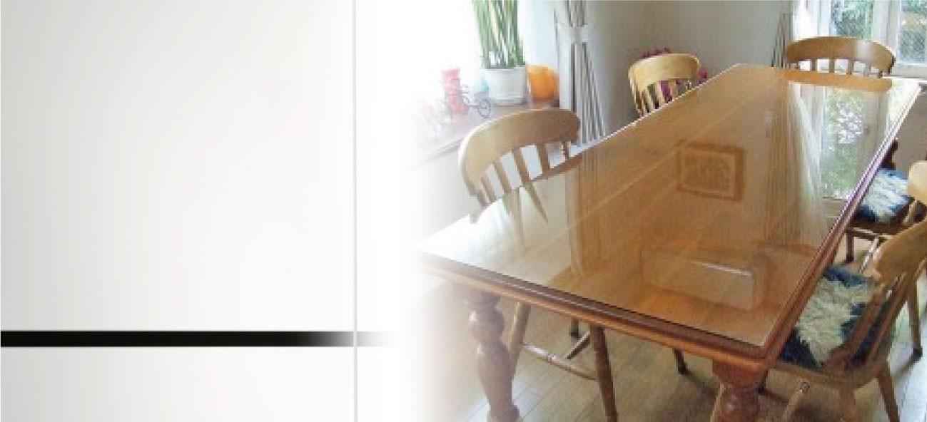 テーブルトップに「強化ガラス」を使用した事例2選のお写真